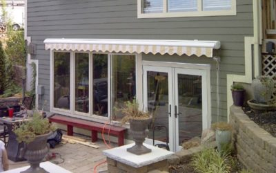 Can window awnings be left up during the winter months.